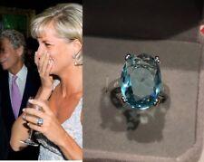 Princess Diana 18ct Aquamarine Ring Given To Meghan Markle Platinum o/silver