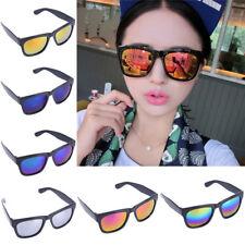 Women Colorful Sunglasses Vintage Retro Reflective Glasses E&F