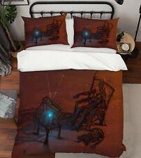 3D hermoso juego de cama funda nórdica con Estampado Funda De Almohada Doble Queen B O