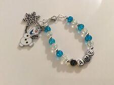 Frozen Dancing Olaf Bracelet Necklace Bookmark, Keyring, Earrings & Charms