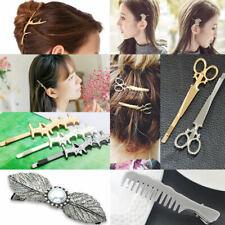 Pince À Cheveux Barrette Ciseaux Perles Papillon épingle Femme Bijoux Accessoire