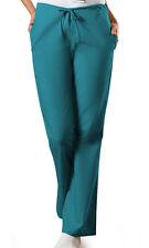 Teal Blue Cherokee Workwear FlareLeg Drawstring Scrub Pants 4101 TLBW