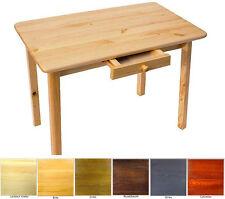 Esstisch mit Schublade Küchentisch Tisch Kiefer massiv Restaurant Neu