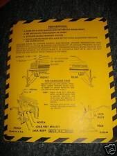 1974 BUICK ELECTRA LESABRE TRUNK JACK INSTRUCTION DECAL
