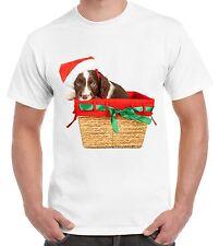 Springer Spaniel Santa Claus Father Christmas Men's T-Shirt