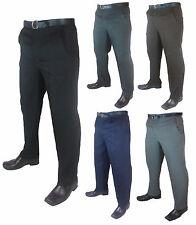 "Da Uomo grande dimensione Casual/Formale Pantaloni/Pants gambe 27"" 29""and 31"" Girovita 30-62"