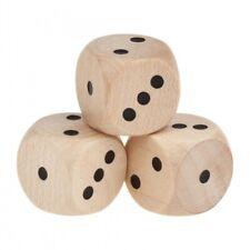 Spezial Holzwürfel - nur 1-3 Augen - natur - W6 - 16mm -