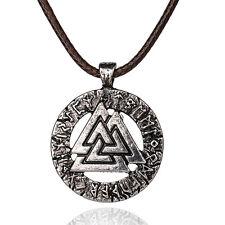 Valknut Pagan Necklace & Pendant.Celtic Knot/Valknut/Raven/Norse/Celt/Viking