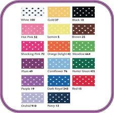 Micro polka dot à pois ruban satin choisir couleur, longueur et largeur-free post