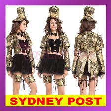 Ladies Mad Hatter Fancy Dress Up Tea Party Alice In Wonderland Hens Costume Hat