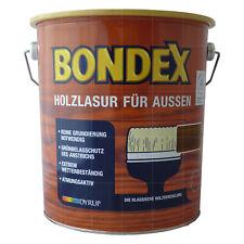 8,95€/L Bondex Holzlasur für aussen 4L Holzschutz Lasur FARBWAHL