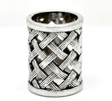 Gros lots silver tone bail beads for wrap écharpe (taille du trou: 17mm)