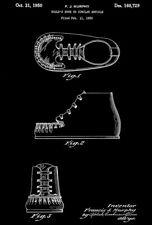1950 - Child's Shoe - F. J. Murphy - Patent Art Poster