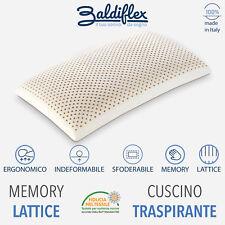 Cuscino Guanciale White in Memory / Lattice - Altezza 13 cm