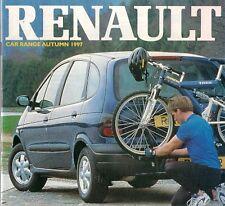 Renault 1997-98 UK Brochure Clio Megane Laguna Scenic Safrane Espace Spider