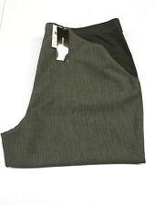 ELENA MIRO' pantalone donna grigio gessato con elastico 68% poliestere