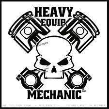 Skull Piston Diesel Vinyl Sticker Decal Heavy Equipment...