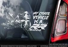 BMW S1000RR - Car Window Sticker - Motorbike Superbike MotoGP Decal Sign - V02