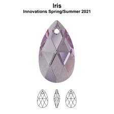 Original SWAROVSKI 6106 Pear Tropfen Birne Anhänger NEU Iris Farbe
