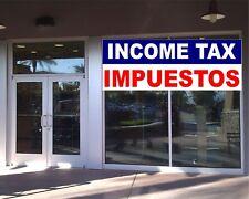 INCOME TAX Return English Spanish BANNER Business Advertising TAX SEASON