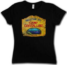 CAMP CRYSTAL LAKE VINTAGE SIGN DAMEN GIRLIE T-SHIRT Freitag The 13 Friday 13th