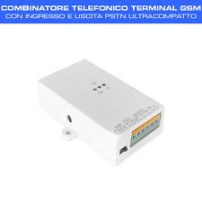 COMBINATORE TELEFONICO TERMINAL GSM con input e output PSTN design ultracompatto