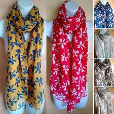 Fleur écharpe impression unique scribble Blooms floral pour femme femmes big wrap/châle