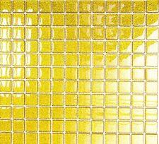 Mosaiksteine Mosaikfliese Glasmosaik  gold gehämmert - Art: 70-0707_f