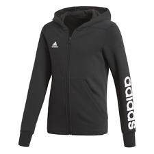 Adidas Enfants Filles Pull à Capuche Fermeture Éclair de Course Essentials Logo