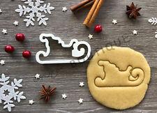 Sleigh Xmas Cookie Cutter 03 | Christmas | Fondant Cake Decorating | UK Seller