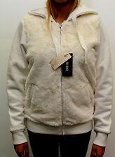 Giacca da donna bianca orsetto Deha con cappuccio cotone casual moda pelliccia