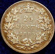 1883-H Canada KM-05 Mintage 960,000  Victoria Twenty-Five Cents