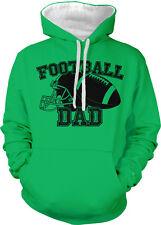 Football Dad Parent Father Daddy Child Kid Helmet My Two Tone Hoodie Sweatshirt