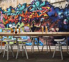 3D Lettre Graffiti  Photo Papier Peint en Autocollant Murale Plafond Chambre Art