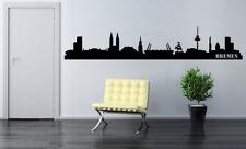 Skyline Bremen Fußball Wohnzimmer Aufkleber City Stadt Wandaufkleber WandTattoo