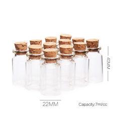 7ml Cork Stopper Glass Vial Jars Containers Bottle Drift Bottle DIY Pendant