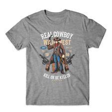 Real Cowboy T-Shirt 100% Cotton Premium Tee NEW