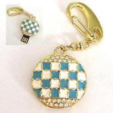 Clé USB 8 GB strass chercher BIJOU PENDENTIF Bavière blanc bleu diamants DRAPEAU