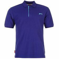 New Slazenger Men's  Cotton Polo Shirt Tennis Golf Sport Casual Purple S -M-L-XL