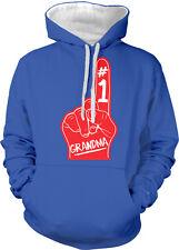 #1 Grandma Number One Red Foam Finger Best Greatest Two Tone Hoodie Sweatshirt