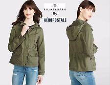 NWT XXL & PRINCE & FOX AEROPOSTALE Twill Parka Olive Green Hoodie Zipper Jacket