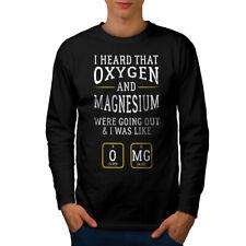 Wellcoda Fanatico della chimica Smart Da Uomo Manica Lunga T-shirt alchimia Graphic Design