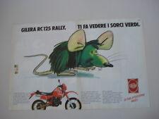 advertising Pubblicità 1987 MOTO GILERA RC 125 RALLY