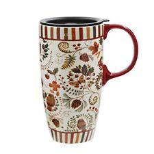 17 oz Tall Ceramic Travel Mug Coffee Cup with Sealed Lid