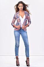 NWT $170 ITALIAN STYLISH Women Summer Jacket SISTE'S COLLECTION Size S 8 10