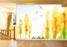 3D Peuplier,Jaune Photo Papier Peint en Autocollant Murale Plafond Chambre Art