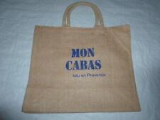 SAC TOILE DE JUTE MON CABAS / IT BAG DE LULU EN PROVENCE MODELE AU CHOIX NEUF G6