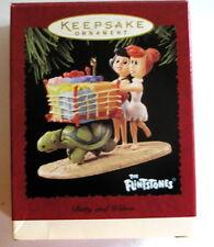 NIB Hallmark Keepsake ornament FLINSTONES BETTY & WILMA 1995 SHIPS FREE