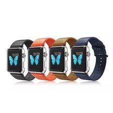 Für Apple Watch Serie 1 2 3 - 38mm 42mm Echt Leder Armband Leather Strap Band