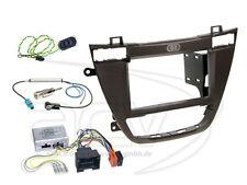Opel Insignia ab 08 2-DIN Radioblende Blende braun mit Lenkrad Adapter Panasonic